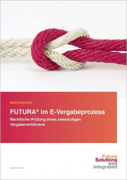 """Titelbild vom Whitepaper """"FUTURA im E-Vergabe-Prozess"""""""
