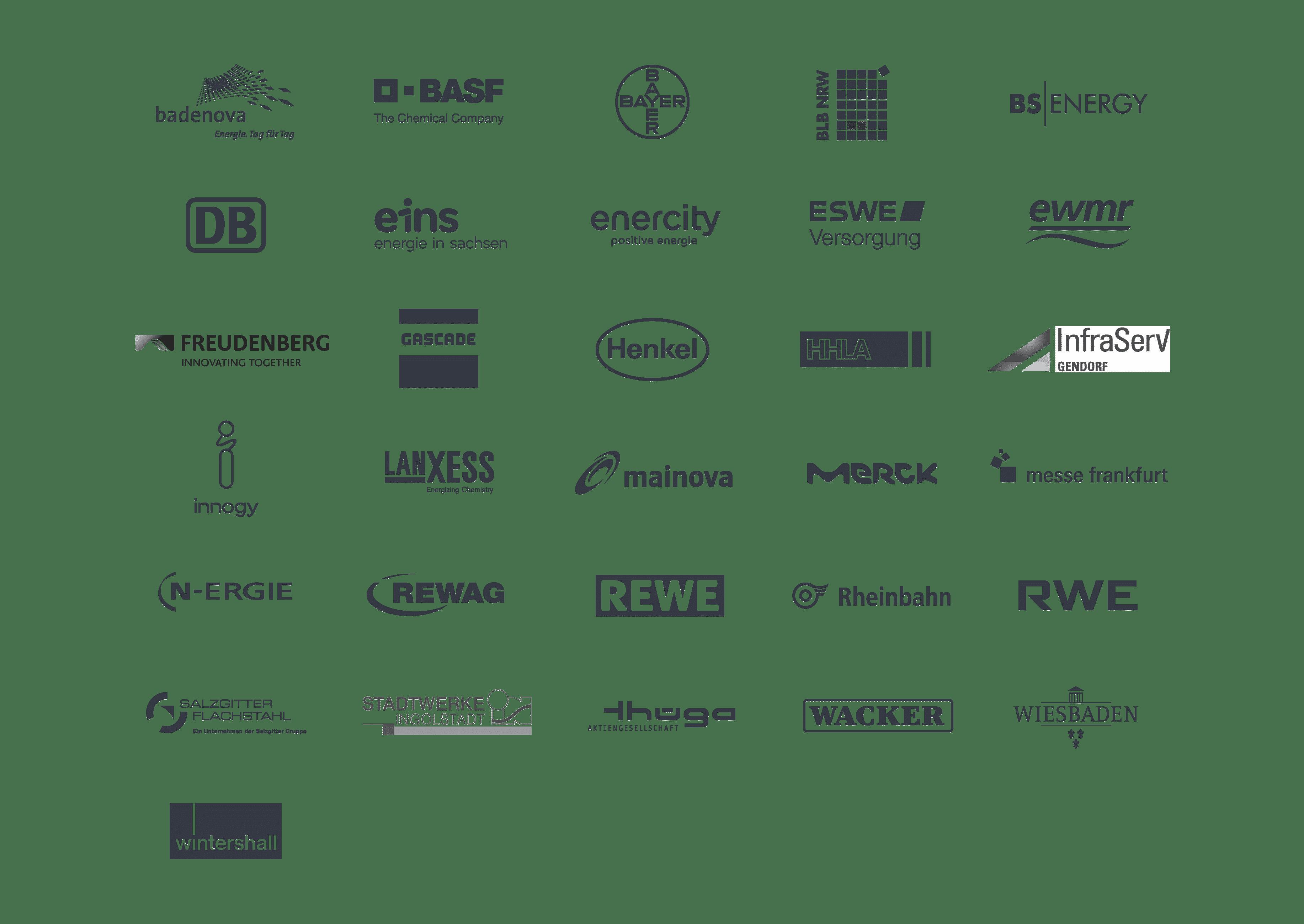 Übersicht Kundenlogos von Futura Solutions